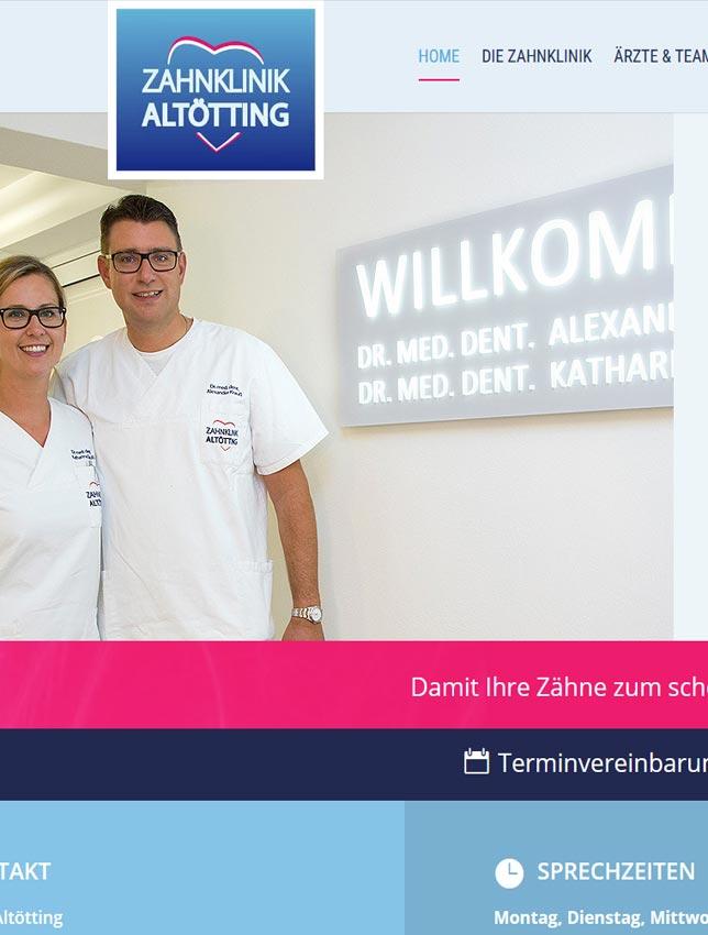 Zahnarzt Webseite