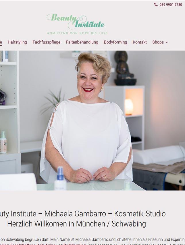 Webseite Kosmetikstudio