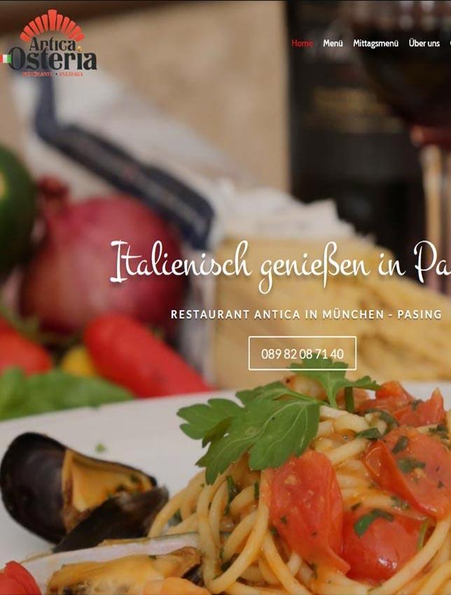 Webseite Restaurant